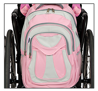 Pink Wheelchair Backpack