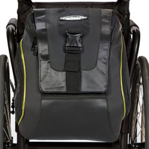Urban Messenger Bag attached to the back of a wheelchair