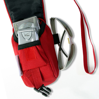Wheelchair Mini Bag Red and its straps