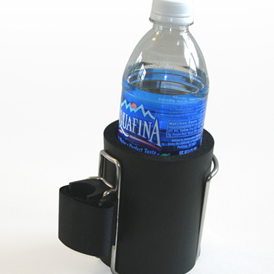 Wheelchair Water Bottle Holder with water bottle inside
