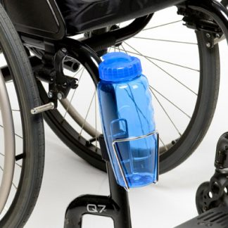 Wheelchair Water Bottle and Water Bottle Holder attached to the wheelchair
