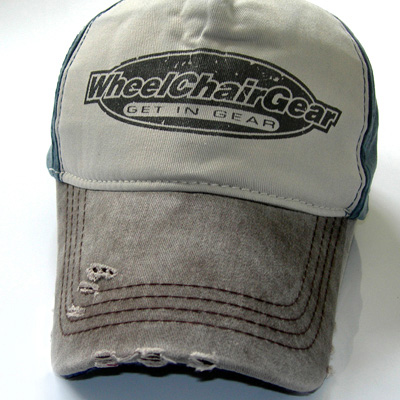 Wheelchair Gear hat close up view