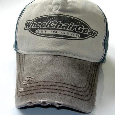 Wheelchair Gear hat close up view