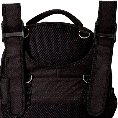 black Wheelchair backpack bag model Pack Rat back view