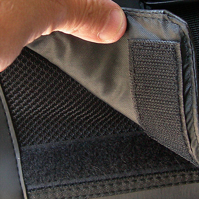 close up view of front inner compartment of a Brand New Urban Messenger Wheelchair Bag
