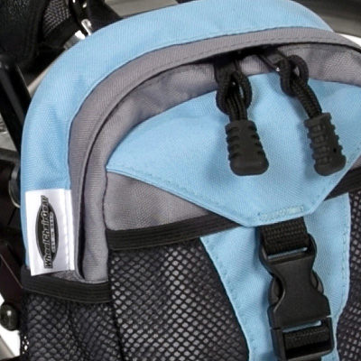 close up view of Wheelchair Mini Backpack model The Pack Rat Jr Mini Pack