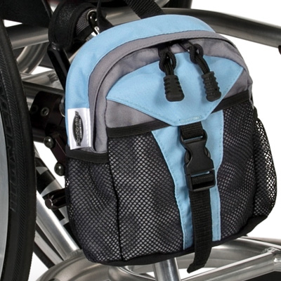 front view of Wheelchair Mini Backpack model The Pack Rat Jr Mini Pack