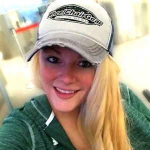 girl wearing the Wheelchair Gear hat