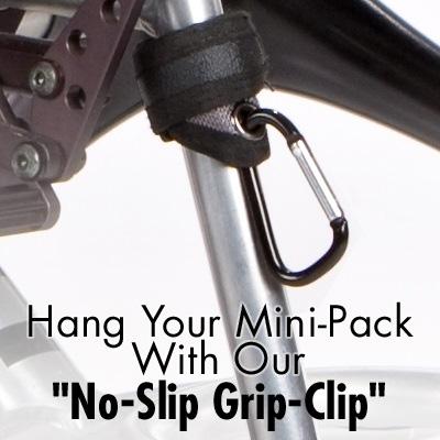hanger for Wheelchair Mini Backpack model The Pack Rat Jr Mini Pack